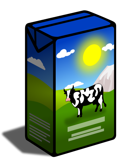 Can panda free images. Milk clipart milk packet