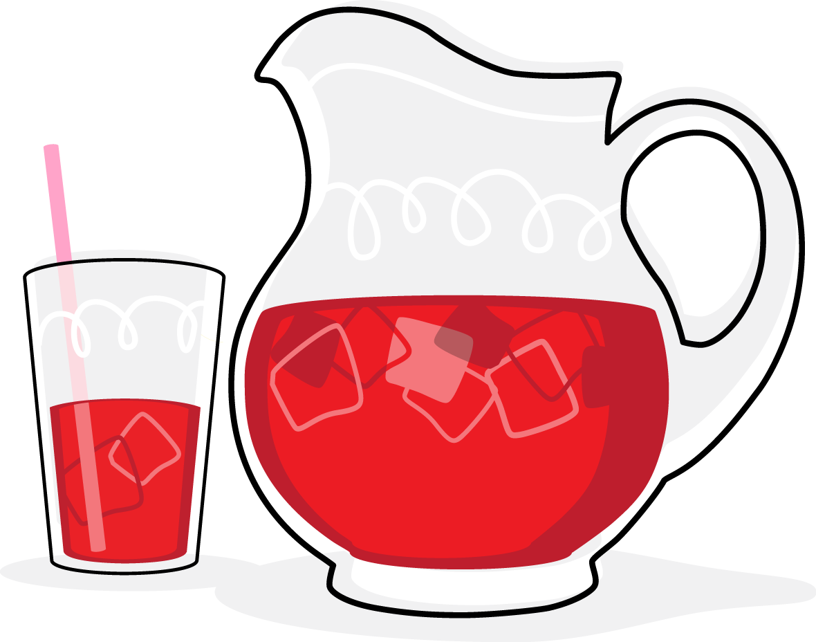 Drinking the kool aid. Drinks clipart vector