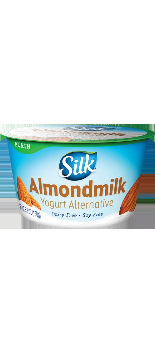 Plain almond dairy free. Yogurt clipart spoonful