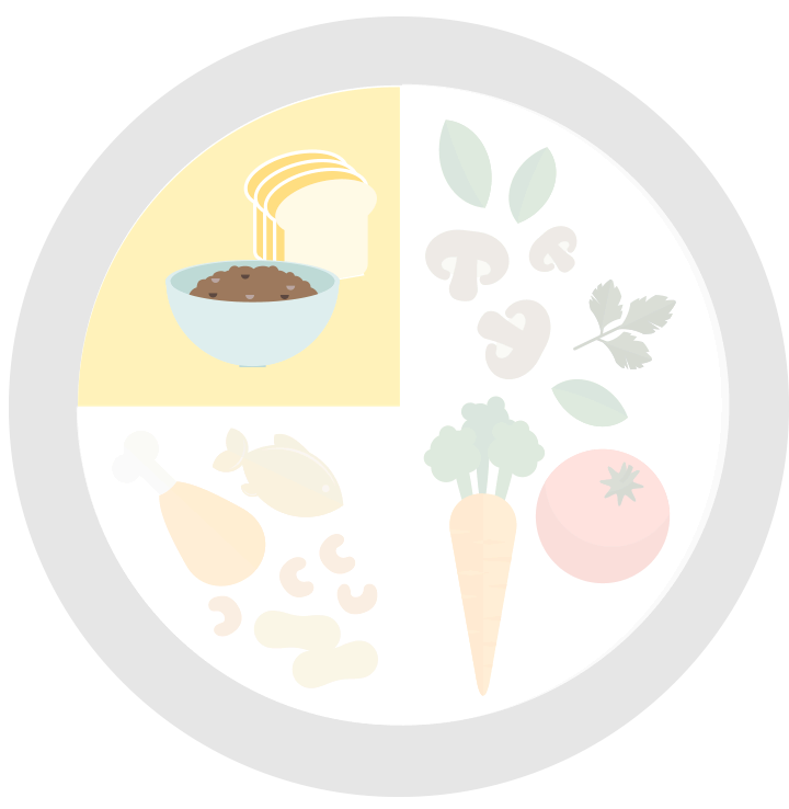 My healthy fill a. Plate clipart plate rice