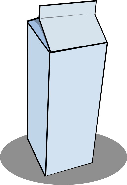 Clipart milk simple. Carton medium image png