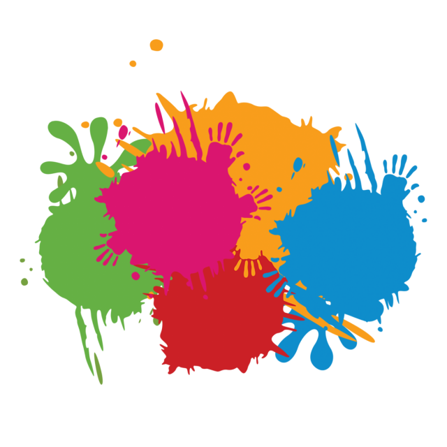 Color paint splash hand. Outdoors clipart psd