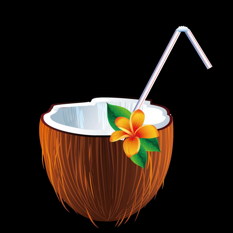 Cocktail pi a colada. Coconut clipart coconut milk