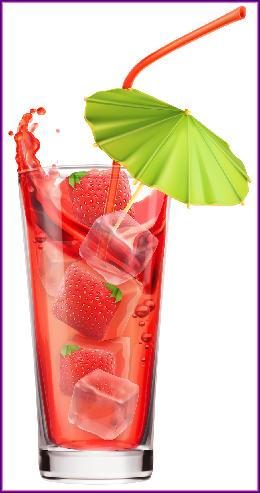 Stunning strawberry cocktail png. Cocktails clipart cute