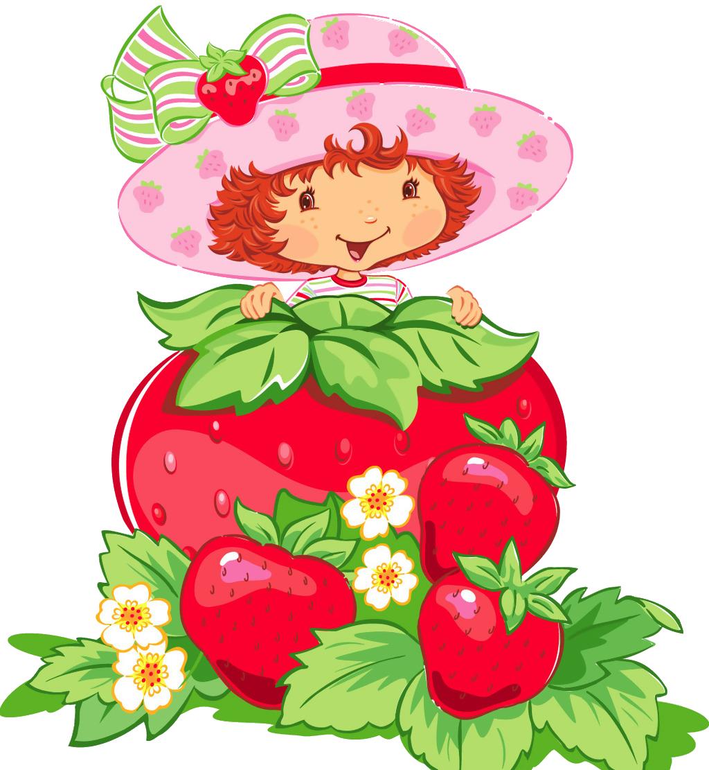 Strawberries clipart strawberry girl. Shortcake frutti di bosco