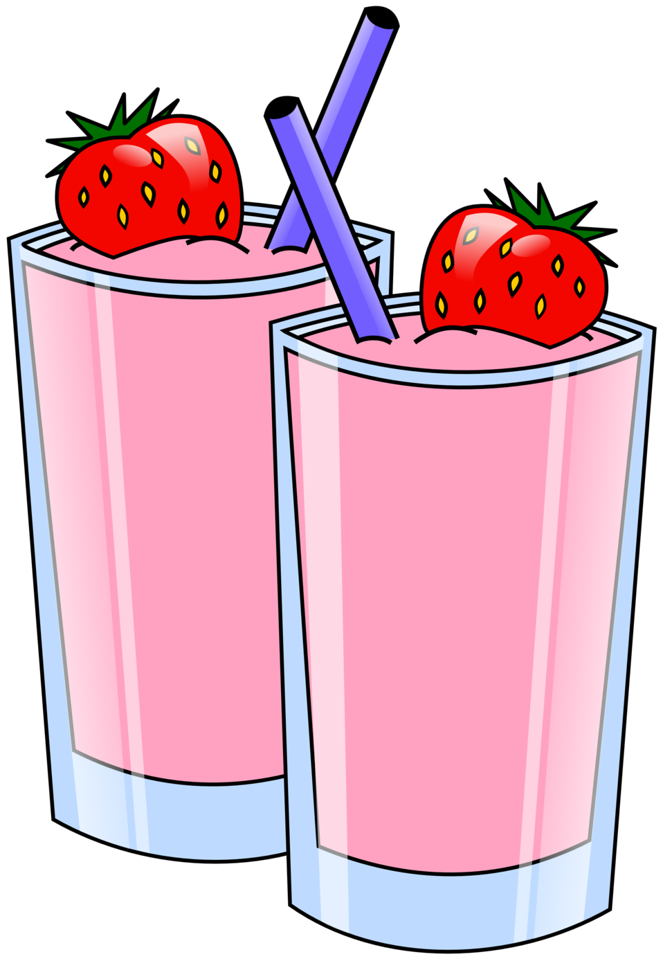 Strawberries clipart colour. Public domain clip art