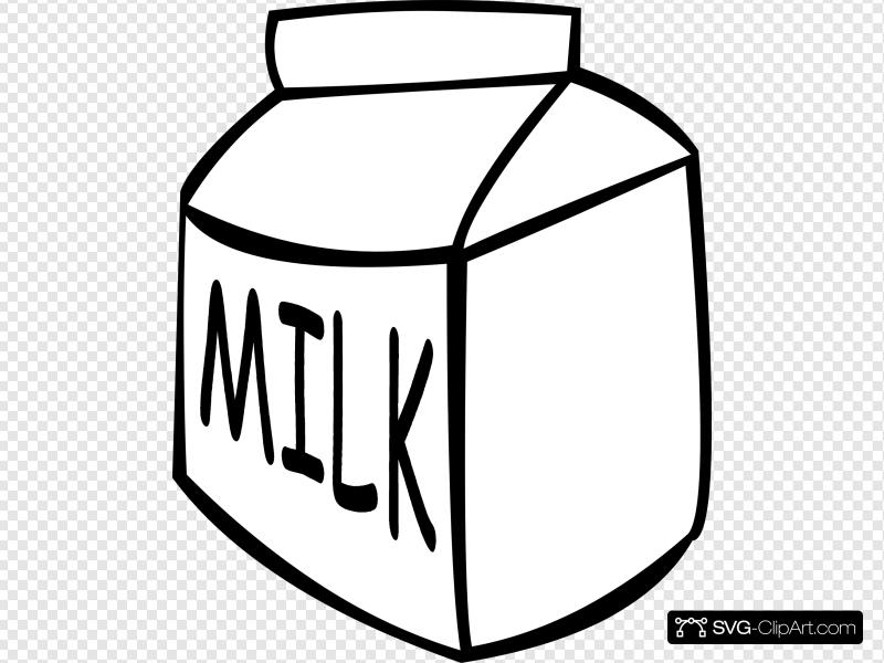 B and w clip. Clipart milk svg