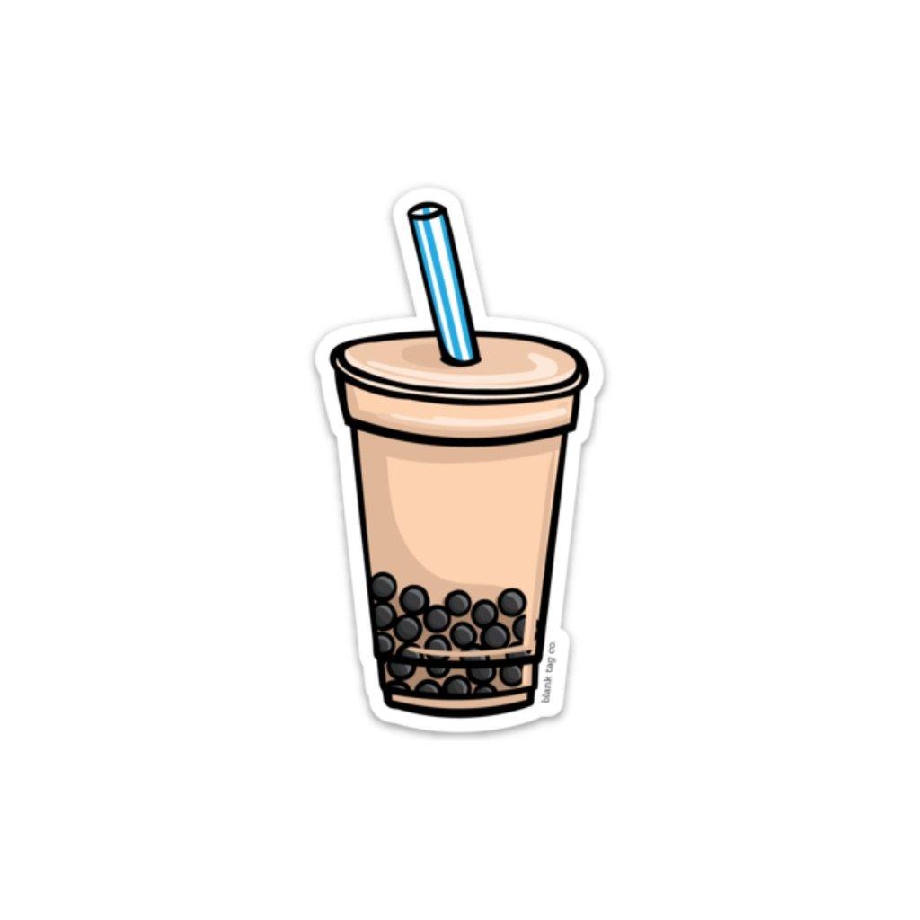 Clipart milk tea glass. The with boba sticker