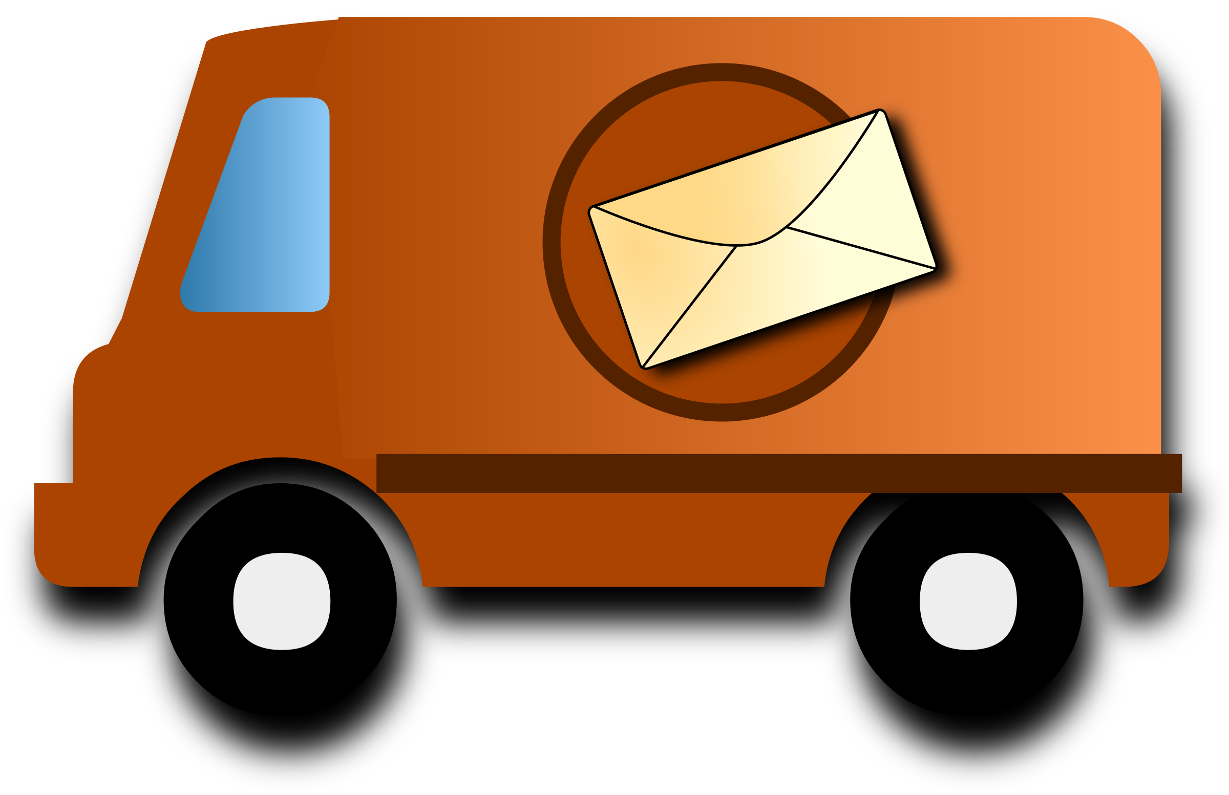collection of postal. Minivan clipart mail van