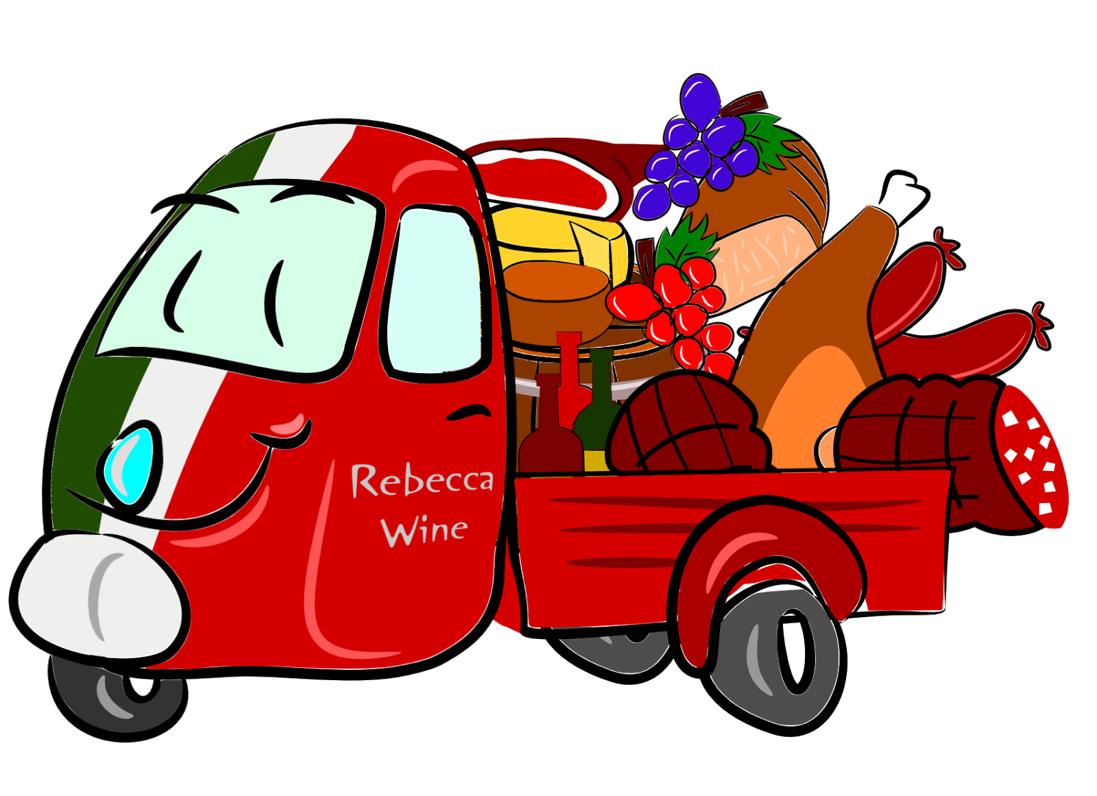 Rebecca wine touring country. Driver clipart family