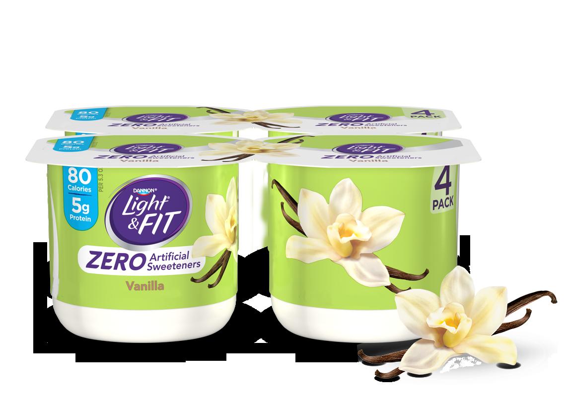 Vanilla nonfat with zero. Yogurt clipart low fat yogurt