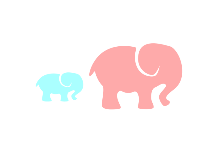 Bclipart pink clip art. Clipart mom baby elephant
