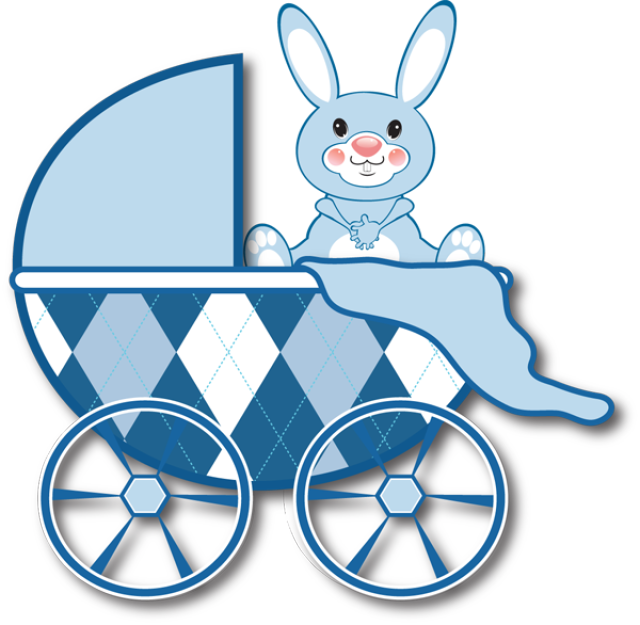 collection of blue. Clipart mom baby stroller