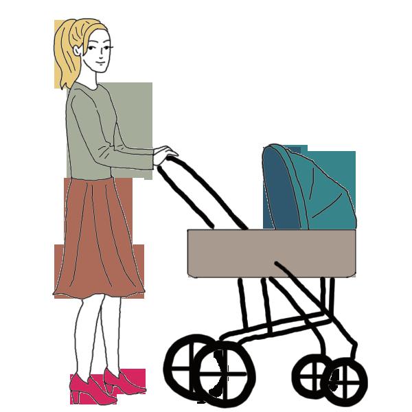Clipart mom baby stroller. Pram dream dictionary interpret
