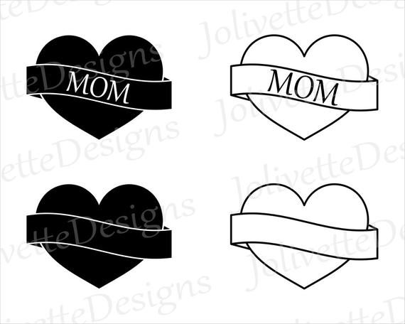 Heart mothers day love. Mom clipart banner