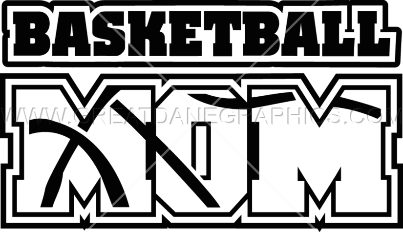 Clipart mom basketball. Production ready artwork for