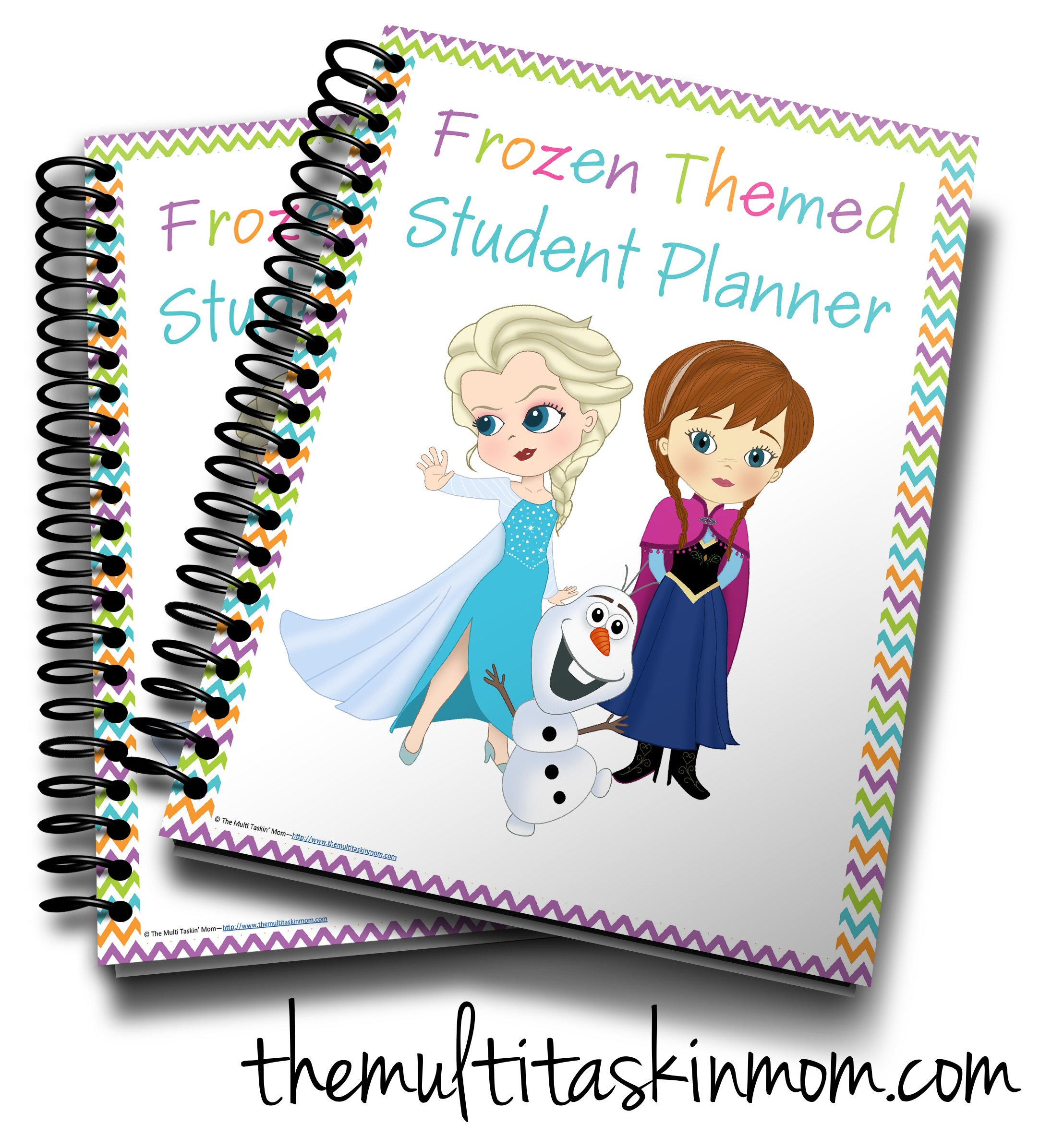 Frozen themed student planner. Clipart mom chore