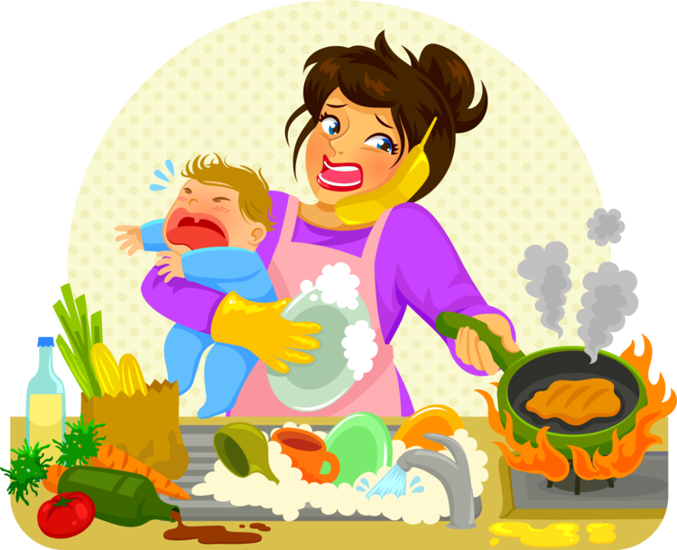 Time saving meal prep. Muffins clipart mom cooking