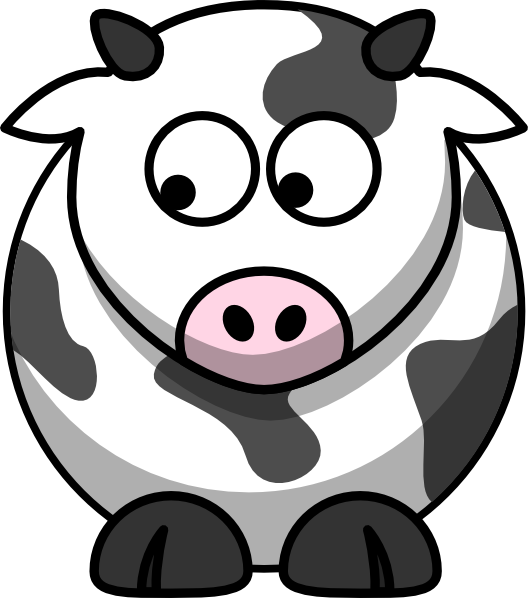 Looking down right clip. Clipart mom cow