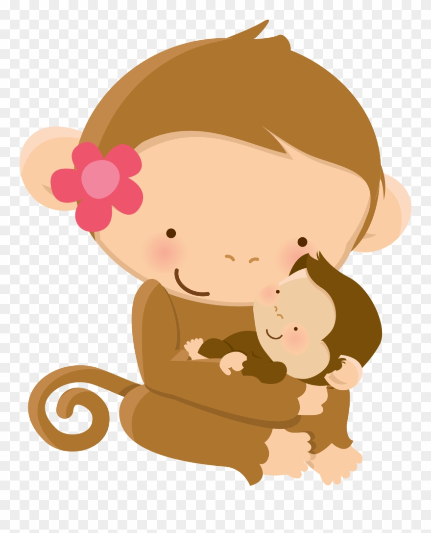 Animal mother s day. Clipart mom cute