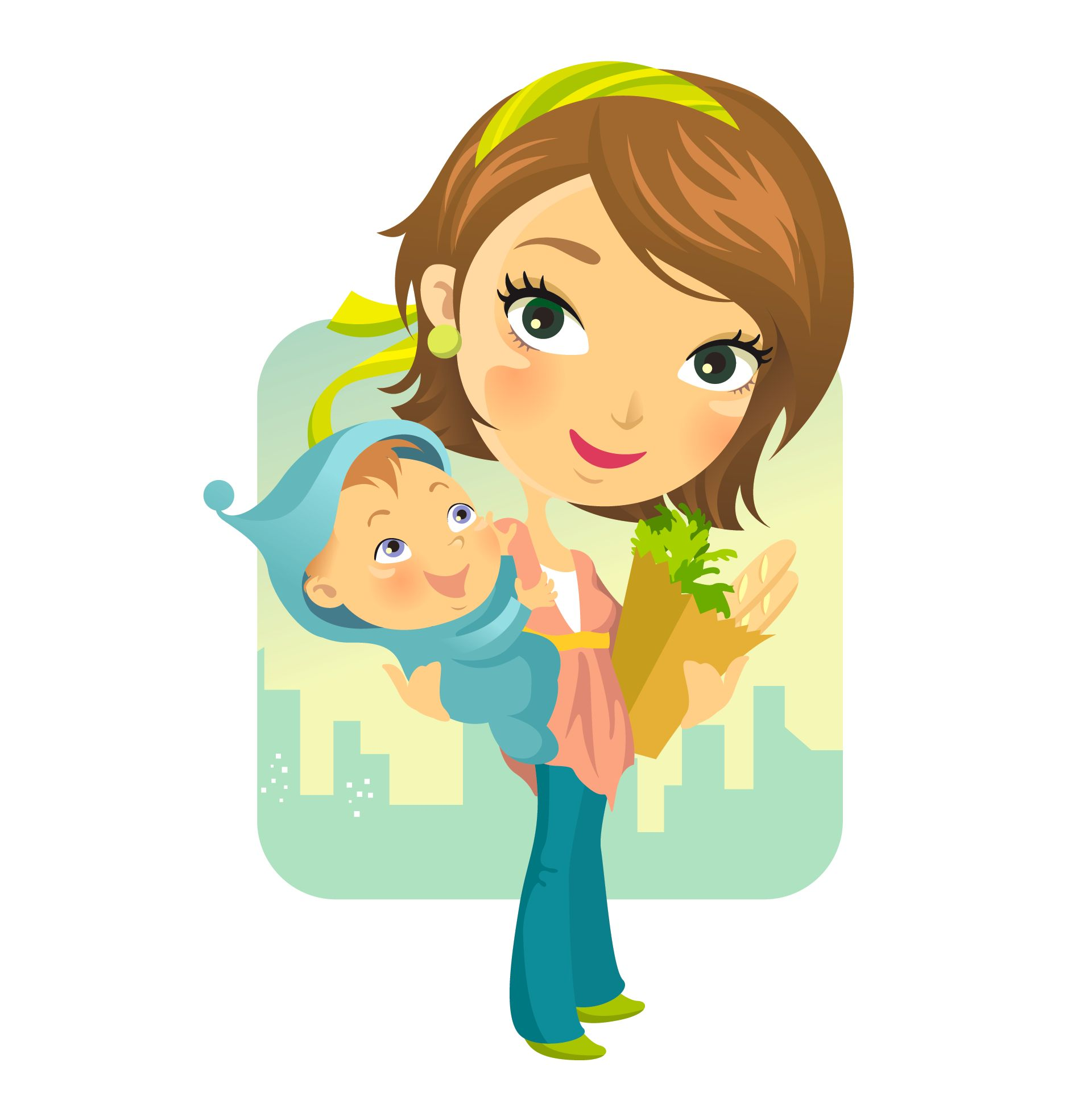 Free cartoon mother download. Clipart mom cute