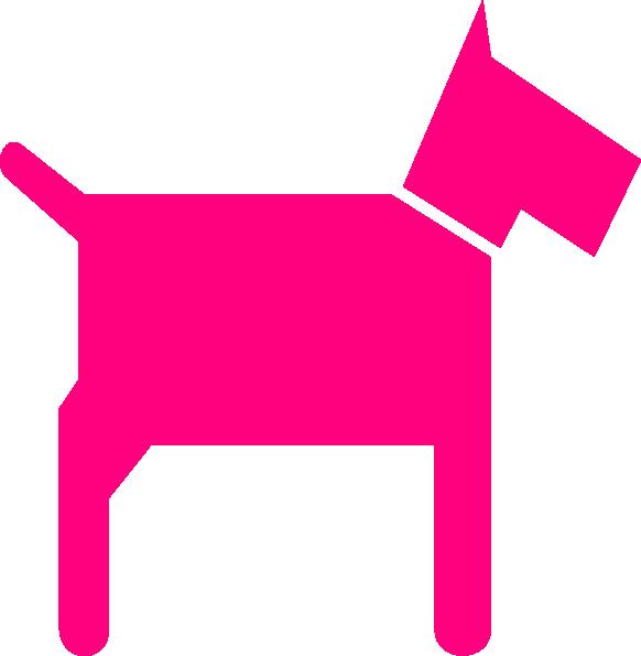 Pink clip art at. Clipart mom dog