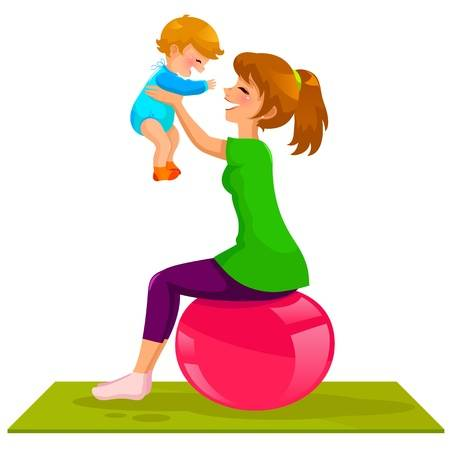 Free download clip art. Clipart mom fitness