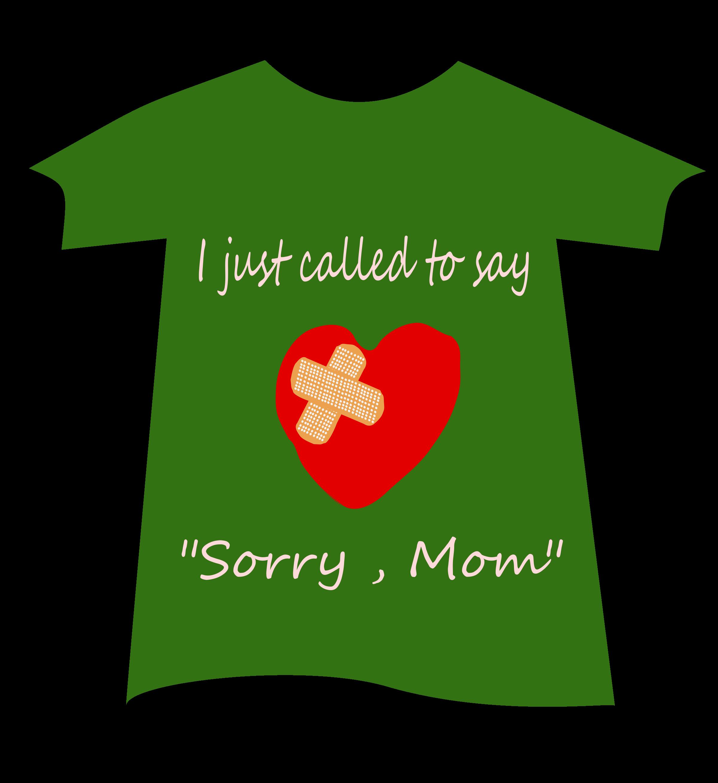 Tshirt sorry big image. Clipart mom font