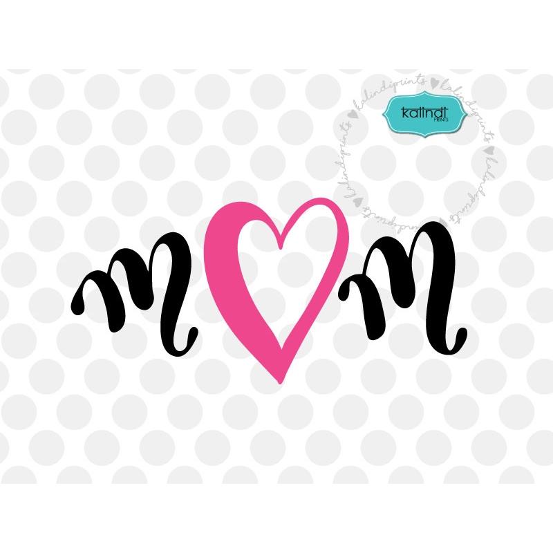 Clipart mom font. Svg hand lettered mother