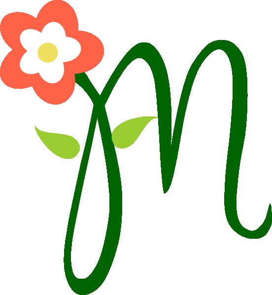 M for clip art. Clipart mom font