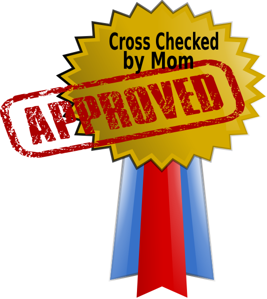 Approved by clip art. Clipart mom font