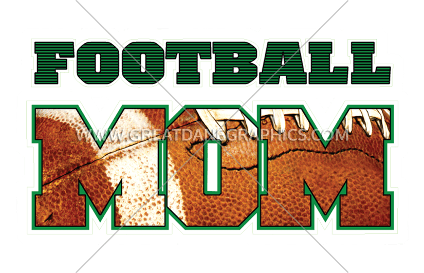 Clipart mom football. Production ready artwork for