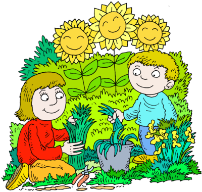 Image and son in. Gardener clipart mother