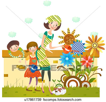Kids free download best. Gardening clipart mother
