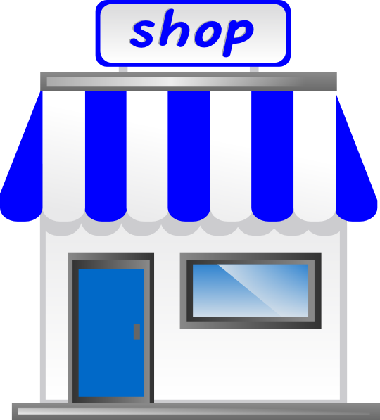 Grocery store drawing at. Clipart restaurant storefront