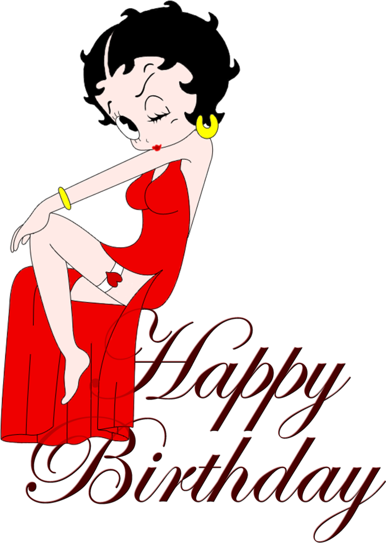Person clipart happy birthday. Betty boop pinterest
