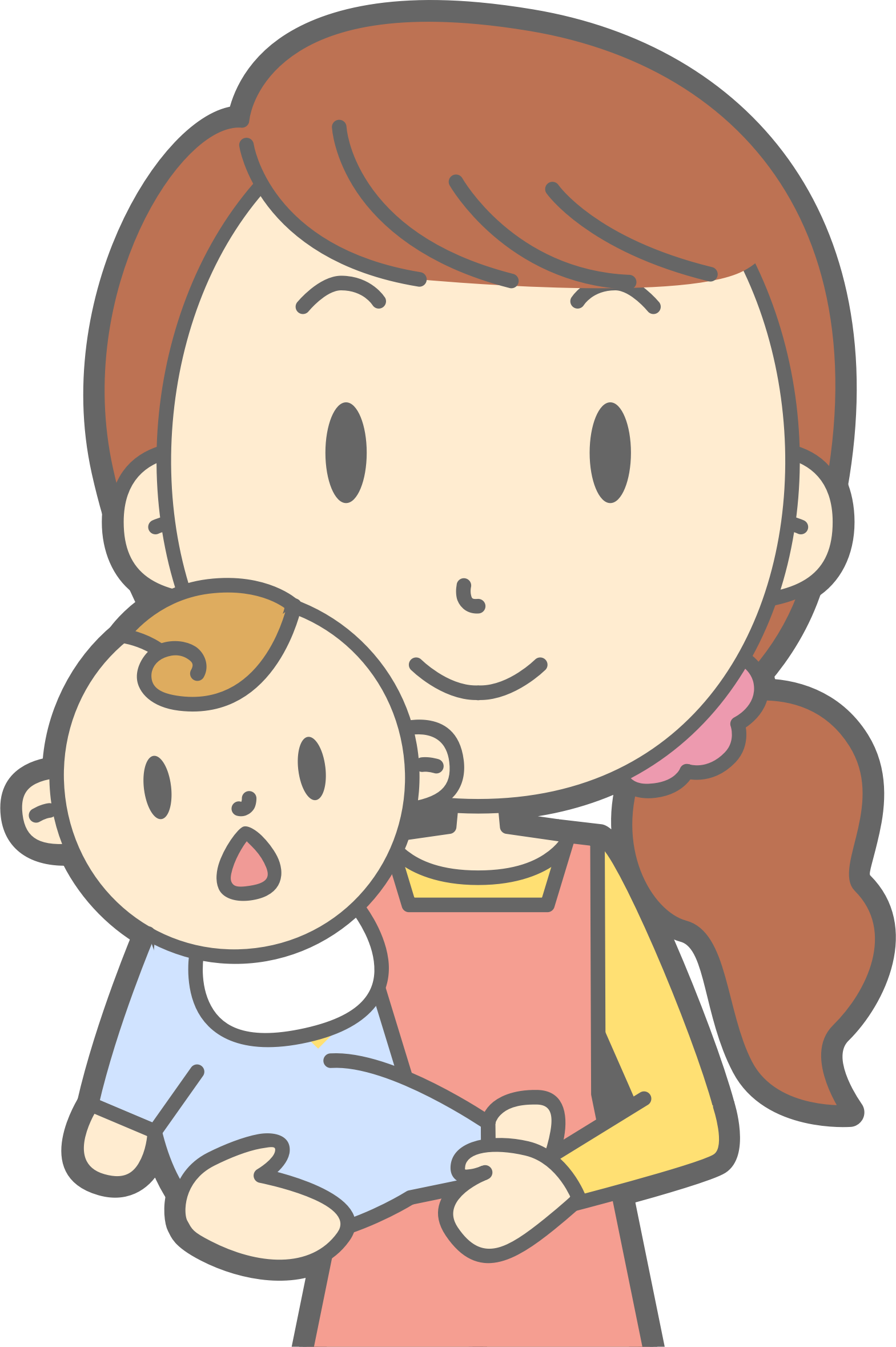 Clipart mom head. Mother and baby big