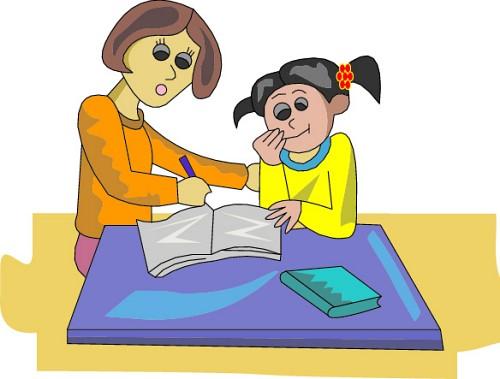 Clipart mom homework. Help clip art library