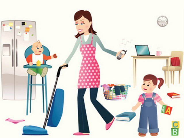 Clipart mom house. Being a mother is