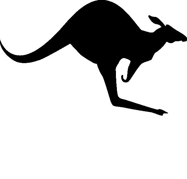 Clipart mom kangaroo. Outline foil designs pinterest