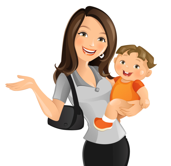 Clipart mom miss you. Personnages illustration individu personne
