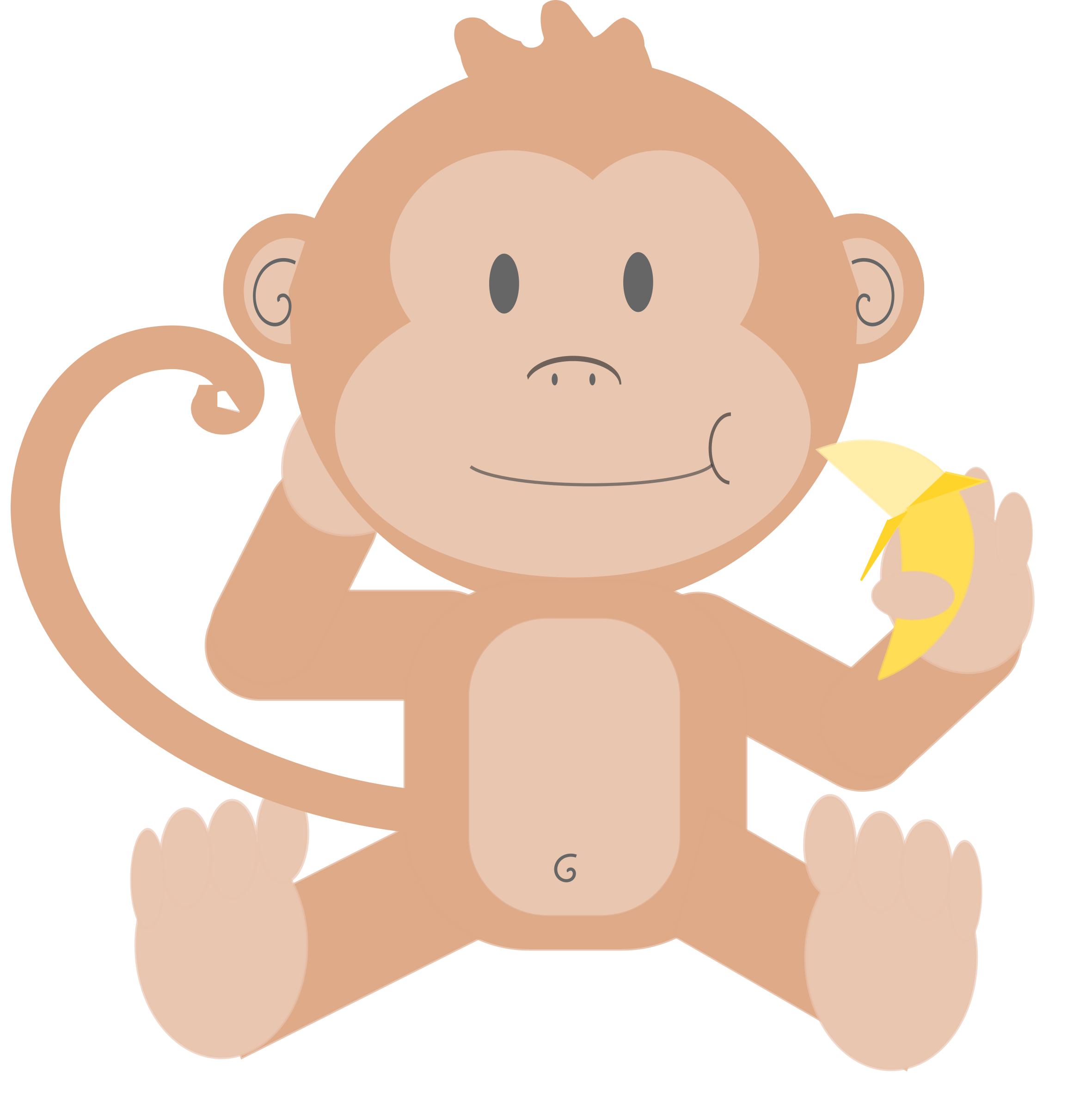 Cartoon image group without. Clipart skull monkey