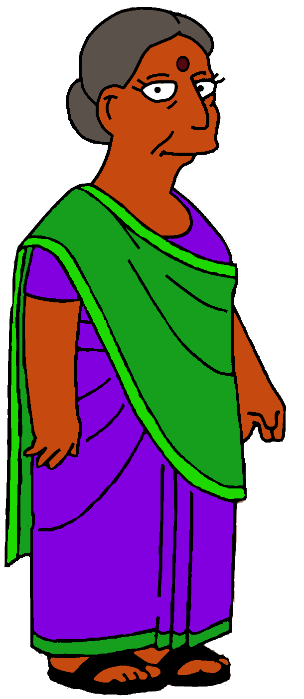 Clipart mom mummy. Apu s mother simpsons