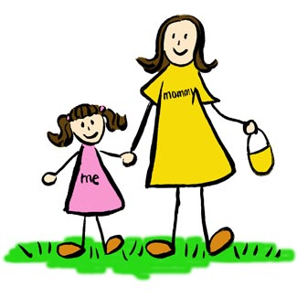 Mommy and daughter clipartandscrap. Clipart mom mummy