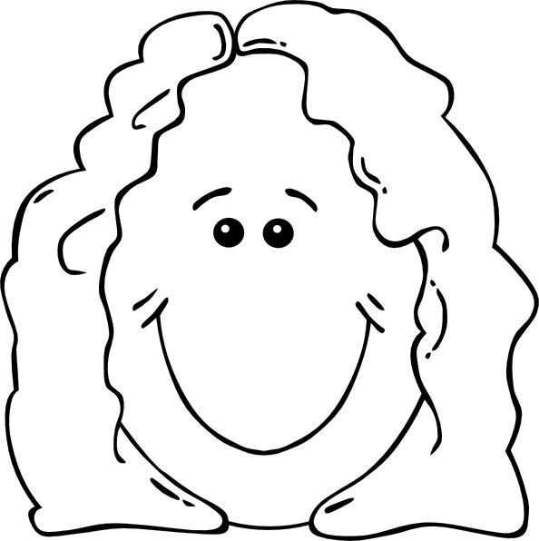 Clipart mom outline. Lady face world label
