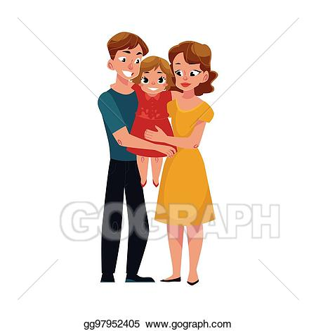 Father clipart mom dad. Vector parents and holding