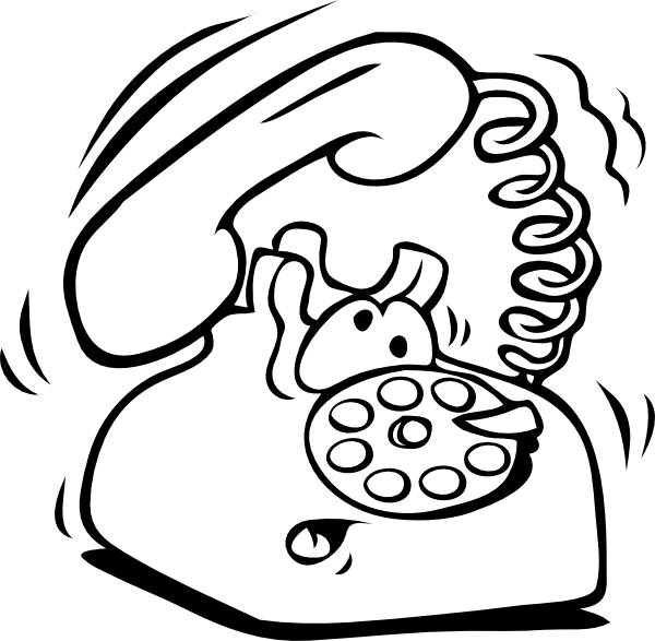 Telephone clipart colouring. Phone clip art at
