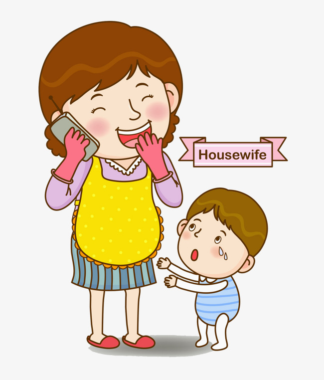On the . Clipart mom phone