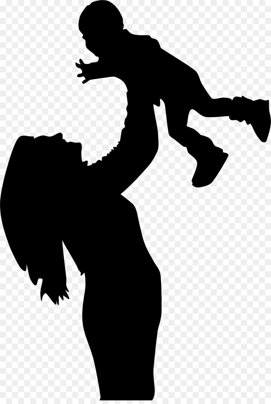 Clipart mom shadow. Mother cartoon child silhouette