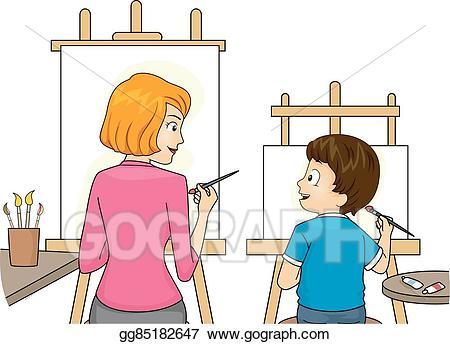 Eps vector kid boy. Clipart mom teacher